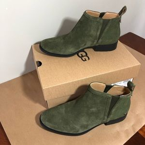 Ugg Mcclaire ankle boot suede olive green SZ 11 9